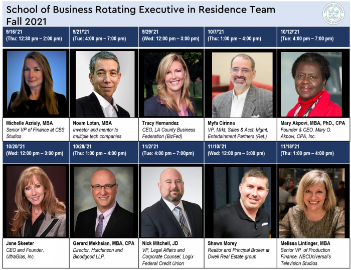 Woodbury School of Business 5th Annual  Executive in Residence Lineup Announced